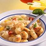 Rezept für Gnocchi mit Sauerkraut Paprika