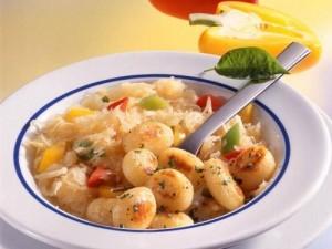 Gnocchi mit Paprika Sauerkraut